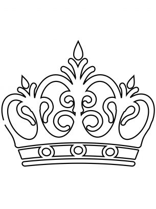 Royal Crown Coloring Sheets - perhaps I could color lots of them and wallpaper a room!