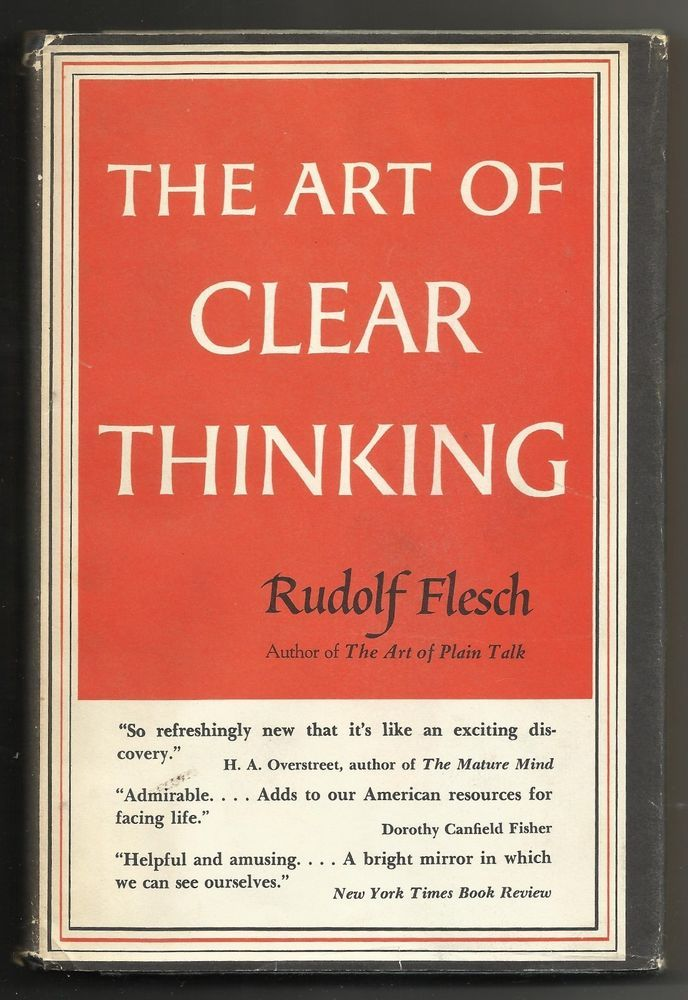 clear thinking,critical thinking and clear writing