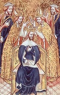 Conflict with nobles PART THREE Even though Lancaster was executed, the nobles and even Edward II's wife were going to have their revenge. In 1326, his wife Isabella abandoned him, and along with her boyfriend, a guy called Roger Mortimer, they overthrew him and put his son Edward III on the throne. Edward II was murdered at Berkeley Castle in 1327. The end.