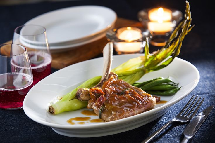 骨付き仔牛ロースのサルティンボッカ | レシピブック | レストラン | Plan・Do・See