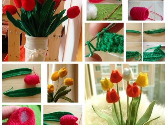 Wooly Tulips Pattern