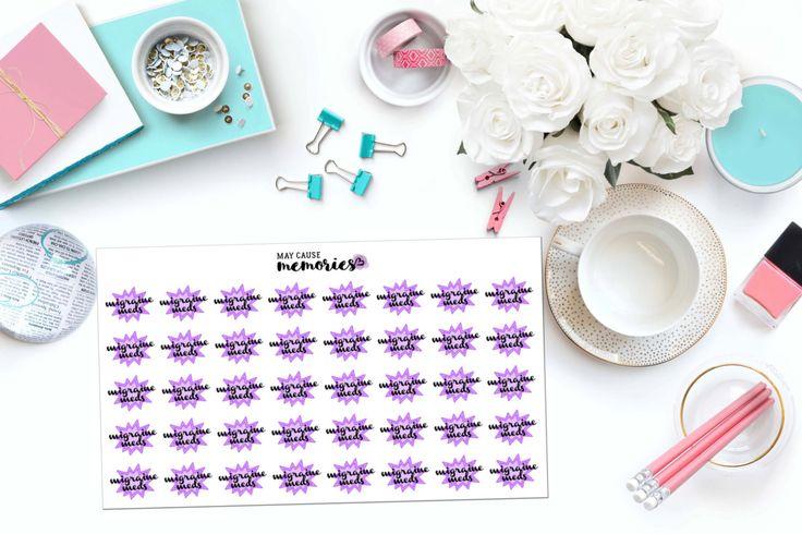 MIGRAINE MEDS Paper Planner Stickers!
