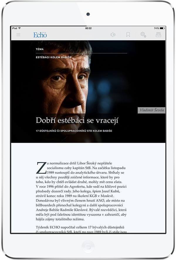 Echo 24 for iPad. More on www.magpla.net MagPlanet #TabletMagazine #DigitalMag