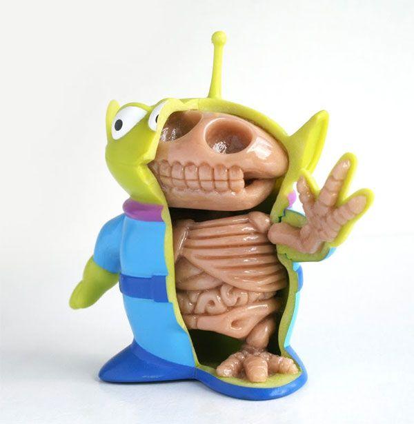L'intérieur de l'alien de Toy Story