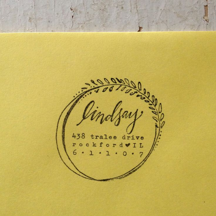 Custom Address Stamp // http://lindsayletters.com/collections/winter-christmas/products/custom-address-stamp-3-x-1-5