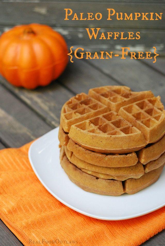 Paleo Pumpkin Waffles {Grain-Free} - Real Food Outlaws #paleo #pumpkin #grainfree