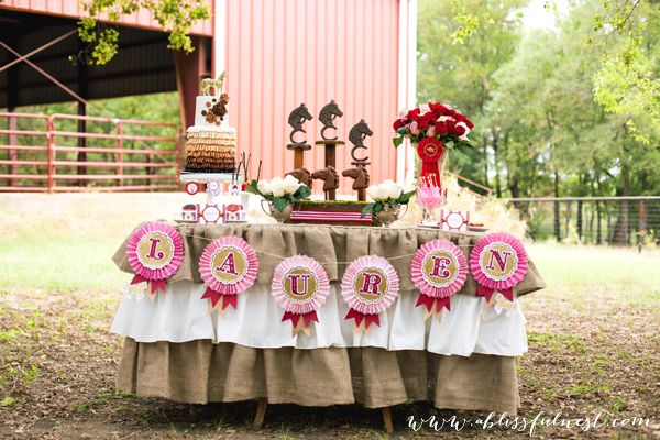 Amazing Horse Party Dessert Table by @A Blissful Nest