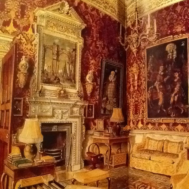 The Velvet Room at Ditchley  that the Trees used in the winter. Nancy Lancaster