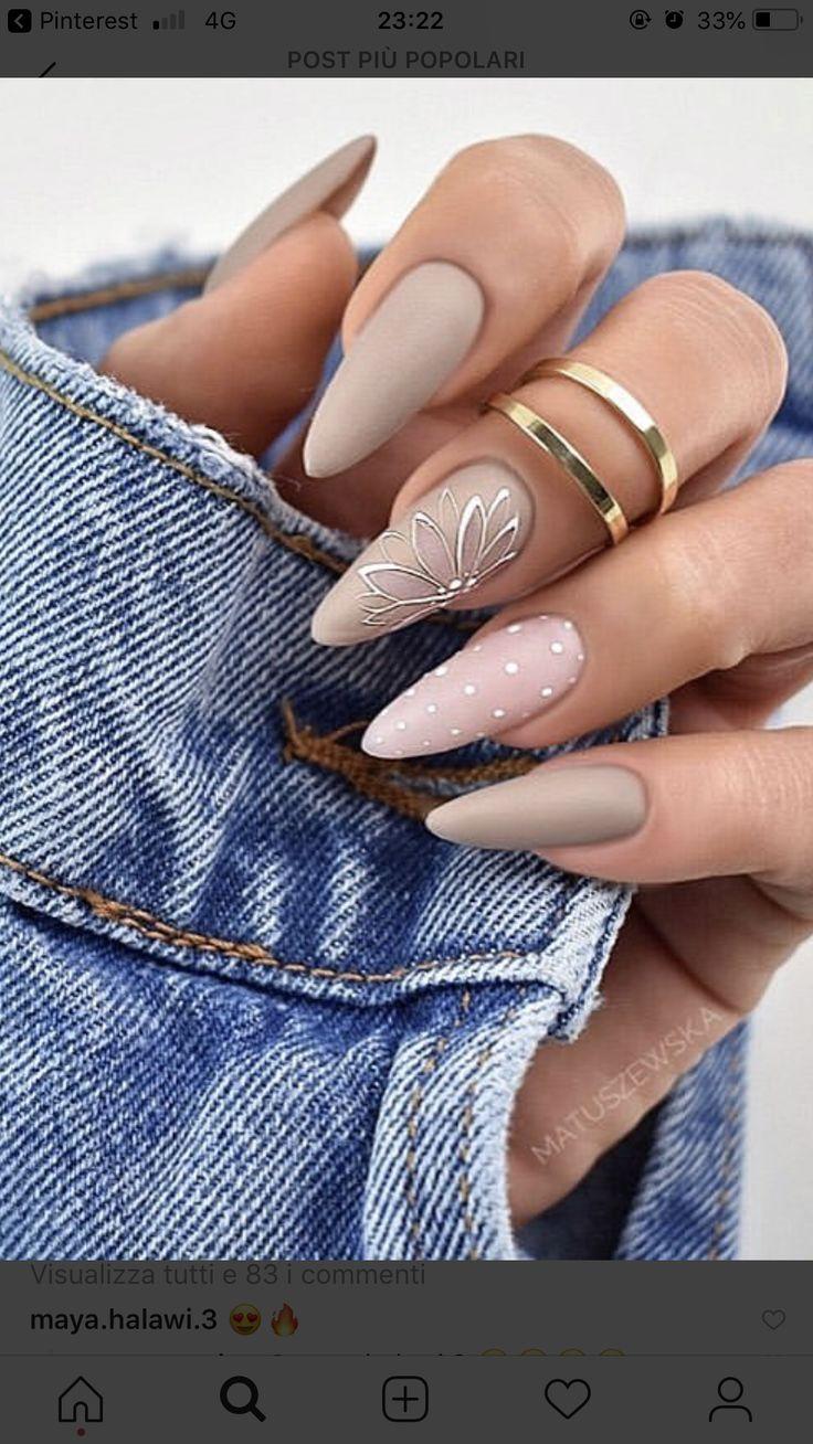 Дизайн длинных ногтей осень 2020 фото