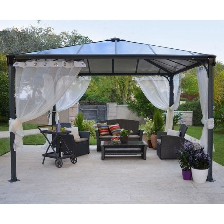 Make your outside look beautiful with this Palermo 3600 12x12 Gazebo. This gazebo is made of durable aluminum and polycarbonate to bring you a quality piece.