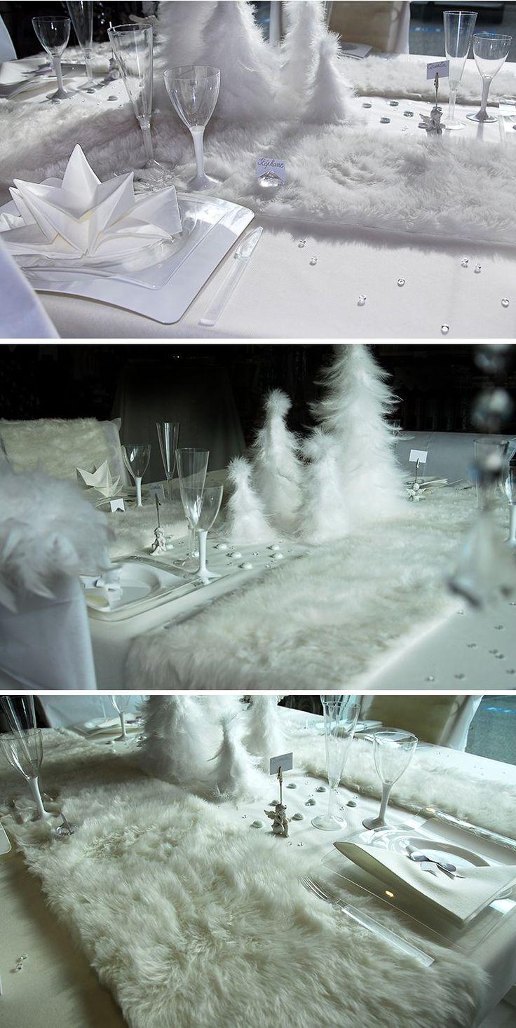 Plumes et fourrures pour une décoration de #noel blanche #christmas