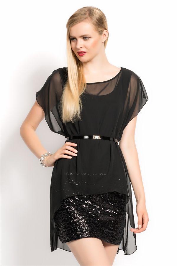İRONİ ELBISE-PAYET ETEKLİ ŞİFON (5723-777 SIYAH) 71,90 TL #şifon #payet #etek #şifonelbise #elbise #allmisse #woman #bayangiyim #trend #turkıshfashıon #sale #moda #kemerli #siyah #black #clothing #modasenınlevar  #stylng #turkey #istanbul http://www.allmisse.com/ironi-elbise-payet-etekli-sifon-17765