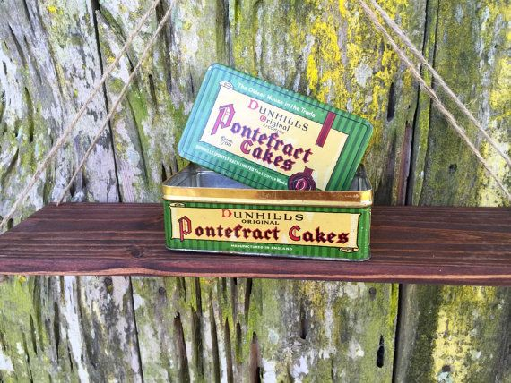 Vintage Dunhills Original Pontefract Cakes Tin. by BraswellDesigns