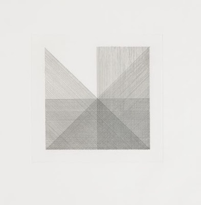 "Sol LeWitt ""Untitled"" from 'Squares With A Different Line Direction In Each Half Square'"