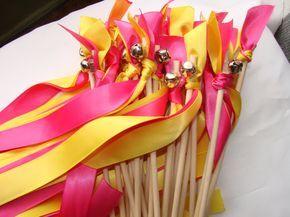 Foto de boda varitas recepción ceremonia madera por craftupyourlife