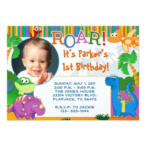 Invitación del dinosaurio - cumpleaños de los