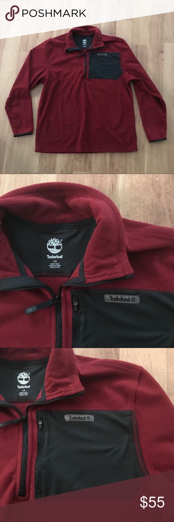 Timberland Men's Red & Black Fleece Jacket Size L ⚜️I love receiving offers through the offer button!⚜️ Good condition, as seen in pictures! Fast same or next day shipping!📨 Open to offers but I don't negotiate in the comments so please use the offer button😊 Check out the rest of my closet for more Adidas, Lululemon, Tory Burch, Urban Outfitters, Free People, Anthropologie, Topshop, Asos, Revolve, Zara, and American Apparel! 1. Timberland Jackets & Coats