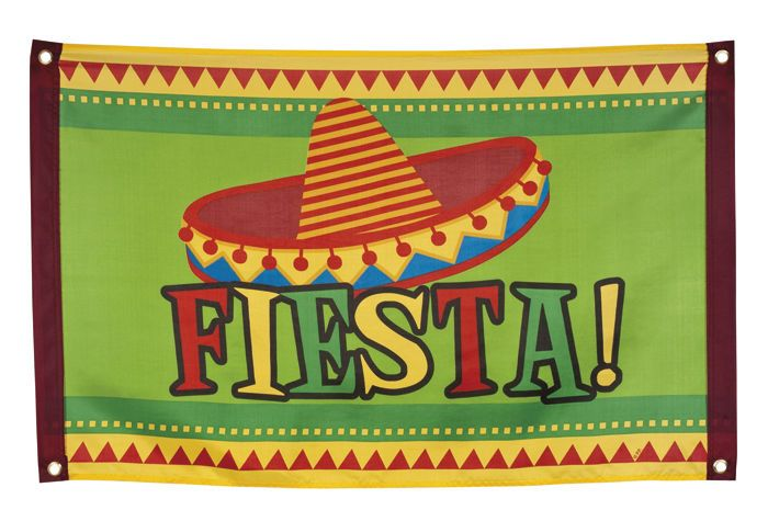MEXICAN SOMBRERO FIESTA PARTYWARE GARLAND DECORATION PARTY FLAG POSTER BANNER in Home, Furniture & DIY, Celebrations & Occasions, Party Supplies | eBay