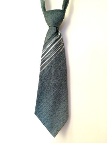 Vintage-Green-Patterned-Striped-Tern-Mens-Kipper-Tie-Extra-WIDE-Made-in-UK