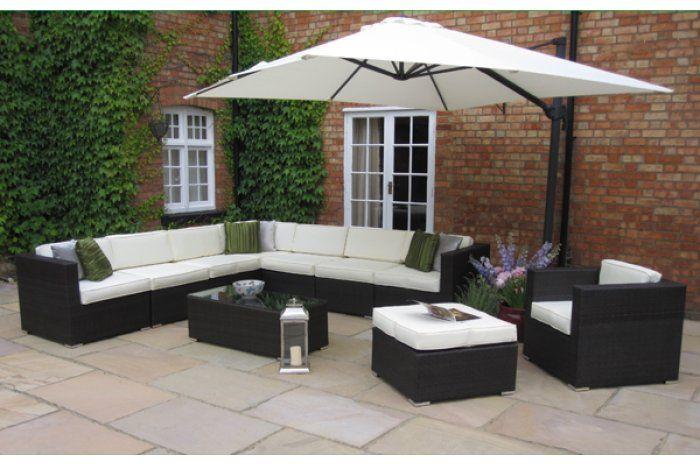 Chloe Huge Luxury Rattan Garden Furniture Sofa Set