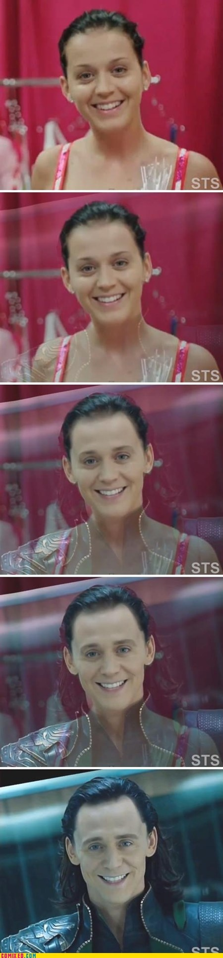 Katy Perry transforms into Loki o.O