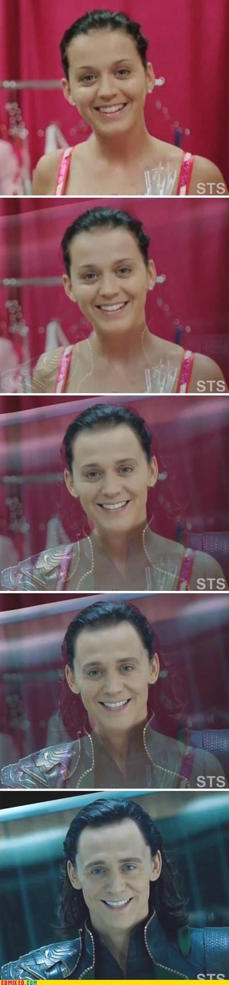Katy Perry transforms into Loki o.O
