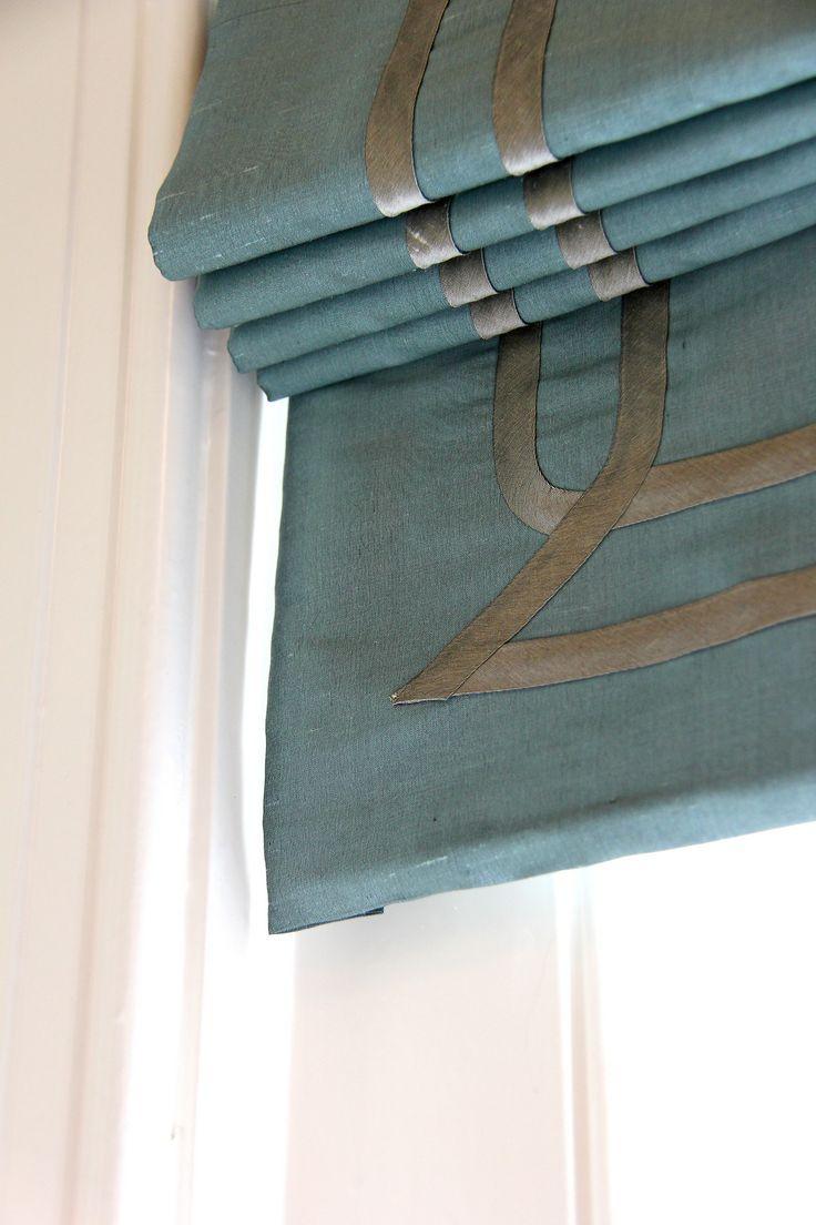 Roman shade design details.