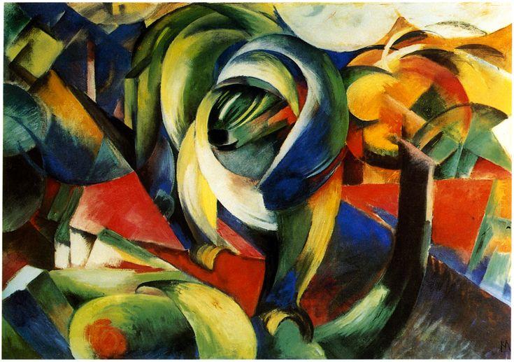 """Franz Marc """"Der Mandrill"""" - 1913"""