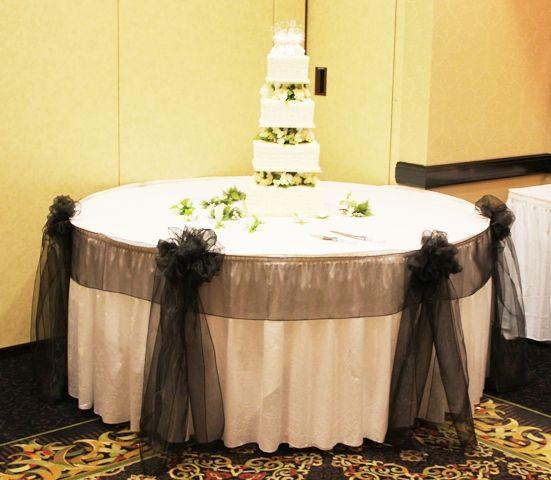 Chicago Cake Table Decoration : Wedding Black Blue Brown
