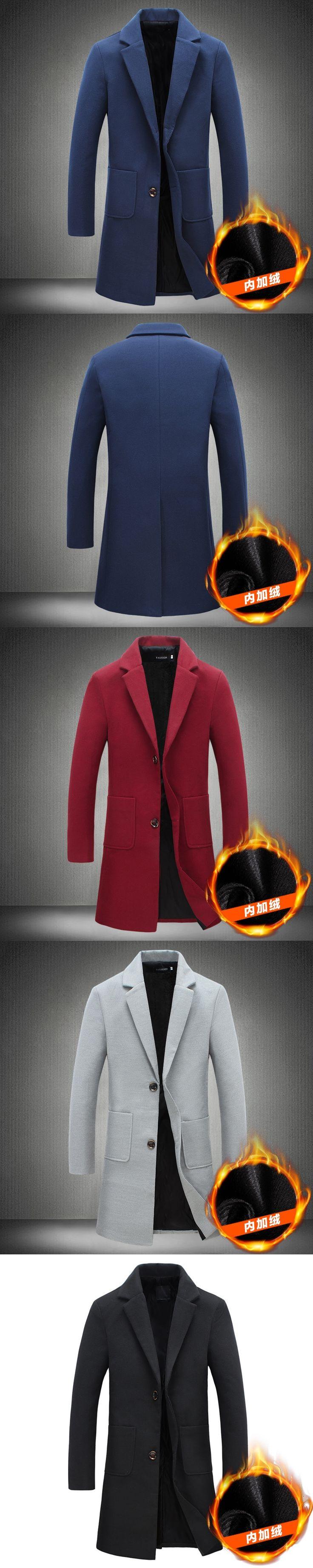 Male Long Coat Mainly Slim Winter Men Hood Man Raincoats Girl Overcoat Trench Mens Leather S Windbreaker Wool Cape Blue f18+