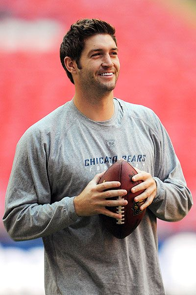 Jay Cutler, I hate football, but at least there's him when my family watches the game