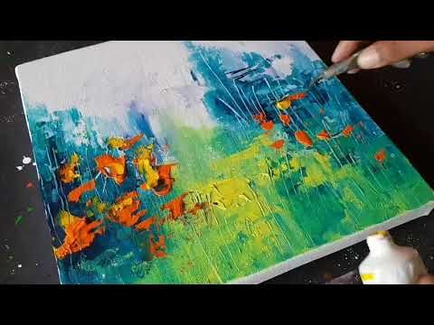 Abstract Painting / Landscape / Amazing Easy Technique in Acrylic / Demo / Project 365 Days / Day # 025 – YouTube