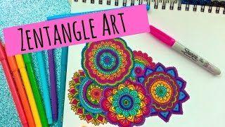 Zentangle Art Paso a Paso - YouTube