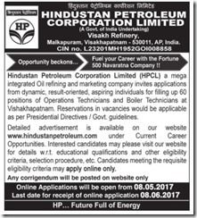 HPCL Technician Vacancy 2017 www.indgovtjobs.in