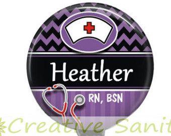 Nurse Retractable ID Badge Holder OB Nurse Pink by CreativeSanity