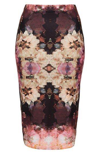 Topshop 'Bruised Floral' Print Tube Skirt | Is it spring yet?