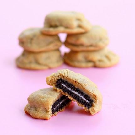 oreo stuffed peanut butter cookies