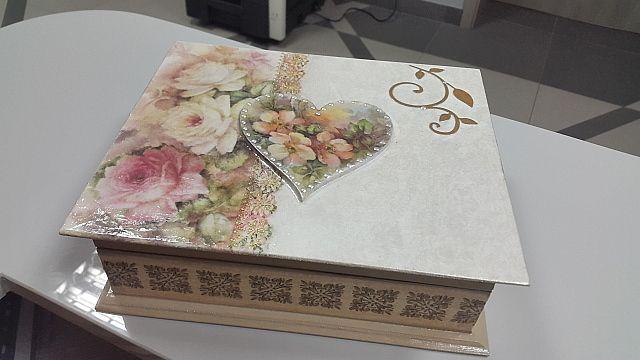 decoupage box, handmade by Joanna