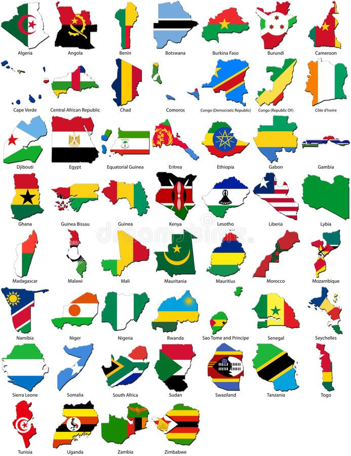 World Flags Country Border African Set A Collection Of 3d Flags For The Afr Ad Border African Country Worl Flags Of The World Flag Country Flag