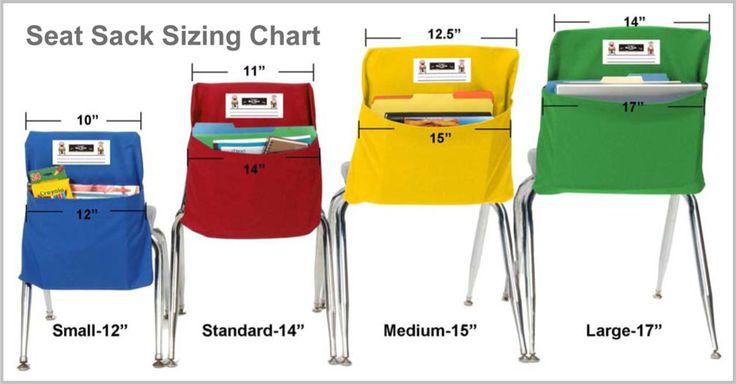 Seat Sack Sizing Chart