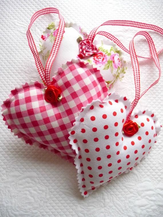Shabby Chic Decorative Red Gingham Polka Dot by PeriDotbyDuni, $15.00