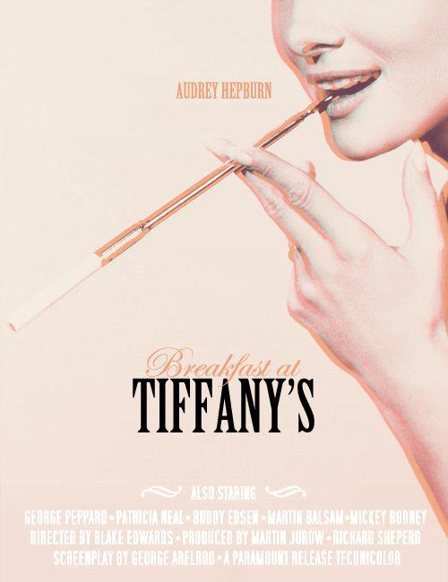 breakfast at tiffany's. film poster.