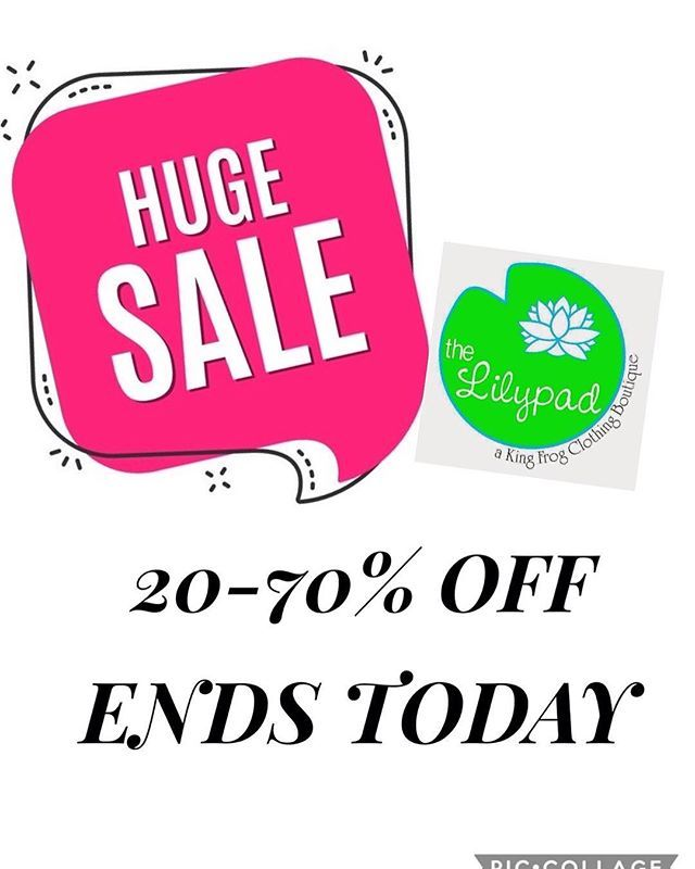 aac63d35ada422 Today is the last day for this amazing sale! Come shop! #thelilypadadel