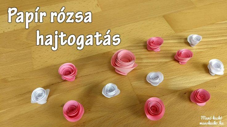 Készíts egyszerűen papír rózsát