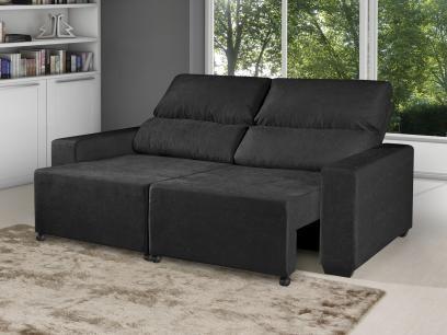 Sofá Retrátil Reclinável 3 Lugares Suede Elegance - American Comfort com as melhores condições você encontra no Magazine Antoninosantos. Confira!