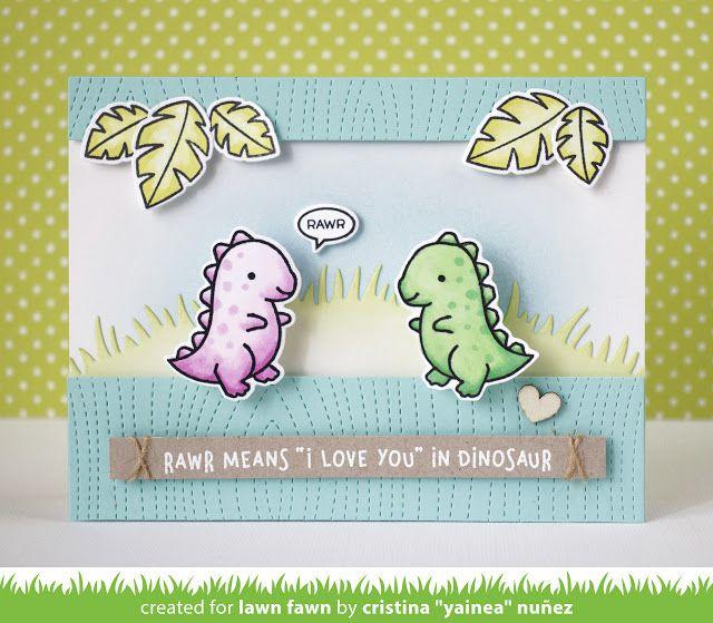 the Lawn Fawn blog: Lawn Fawn Intro: RAWR, Love Ya Line Border, You're Sweet Line Border