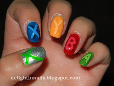 Delight in Nails: Geek Challenge Day 4: Ultimate Geek - Xbox Controller Nails