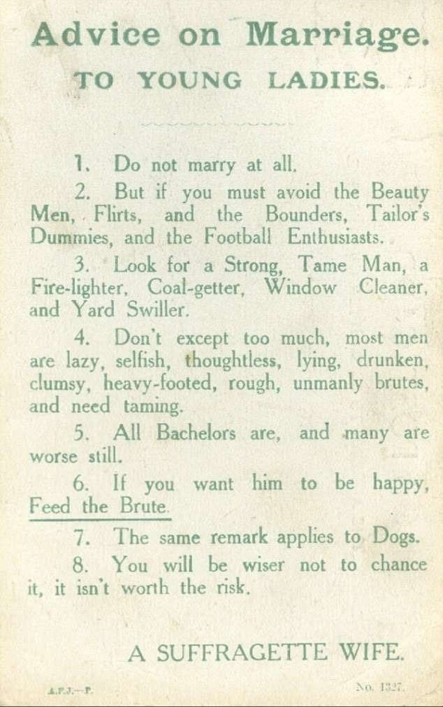 best dating advice quotes women history today