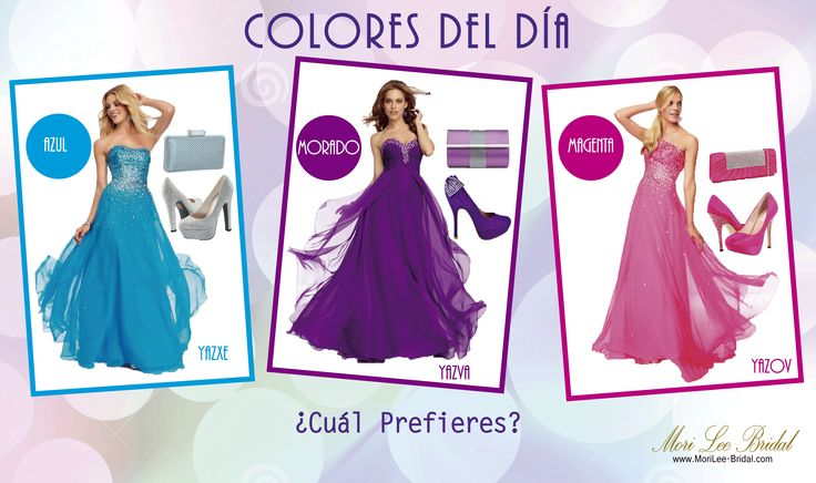 Los colores Del Día, Tres hermosas opciones  Para Ti ... ¿Cual Usarías? #boda #vestidosparaboda #boda2014 #tendencias2014 #coloresdeldia #vestidosdamadehonor