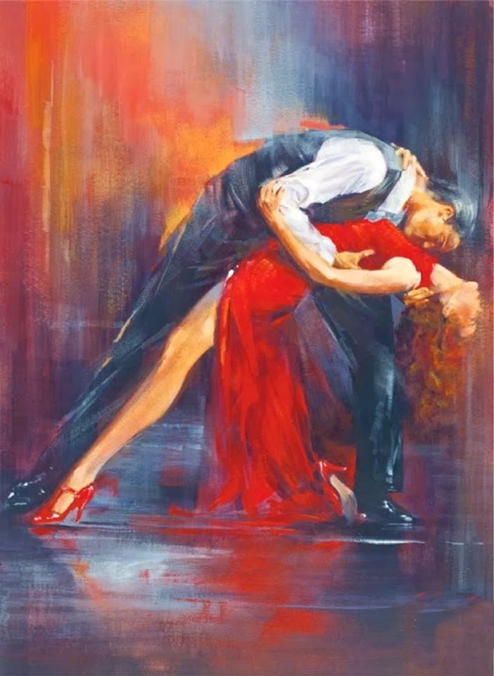 Открытка девочек, танго картинки красивые нарисованные